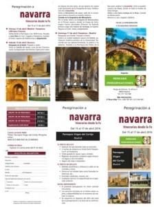 Tríptico peregrinación Navarra
